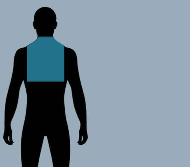 Klachten boven in de rug/nek.