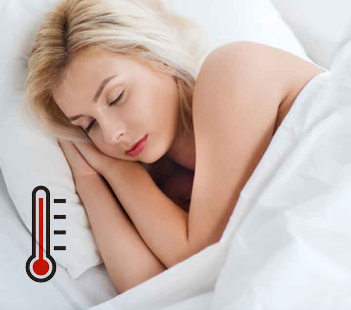 Ik heb het vaak warm in bed.