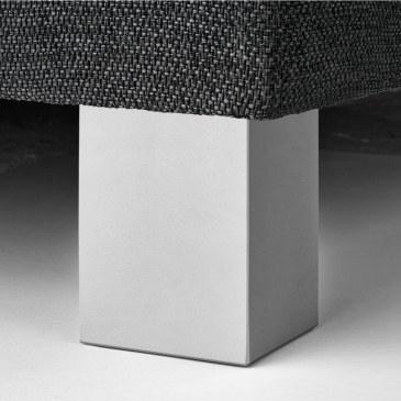 Blokpoot aluminium kleur