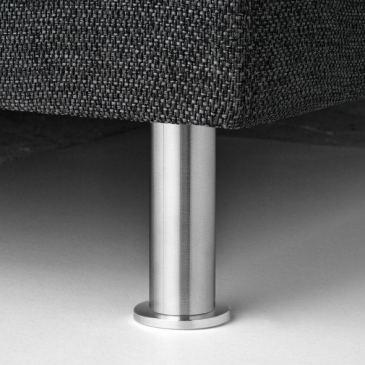 Ronde poot met voet aluminium