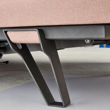 Design poot metaal stof inlay